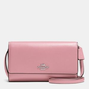 Coach Pink Silver Phone Crossbody